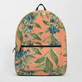 Blue Flowered Gentian Backpack