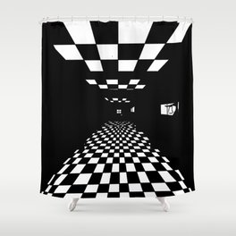 Endless Hallway to Nowhere Shower Curtain