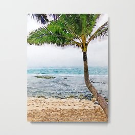 Maui Palm Tree Metal Print