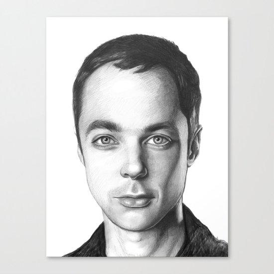 Sheldon Cooper BBT Portrait Canvas Print