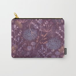Scratchy Floral Carry-All Pouch