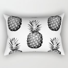 Black & White Pineapple Rectangular Pillow