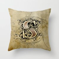 monogram Throw Pillows featuring monogram s by Art Lahr