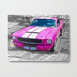 Pink Mustang  Metal Print