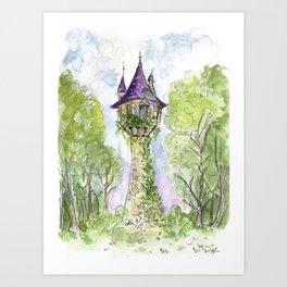 Repunzel's Tower Art Print