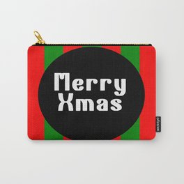 merry Xmas funny logo pattern Carry-All Pouch