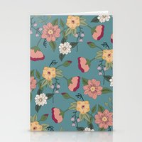 vintage floral Stationery Cards featuring Floral Vintage by Juliana Zimmermann