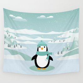 AFE Winter Penguin Wall Tapestry