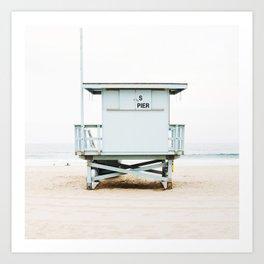 California Beach Tower Art Print