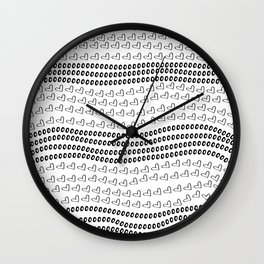 love in Black & White Wall Clock