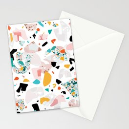 Mixed Mess I. / Collage, Terrazzo, Colorful Stationery Cards