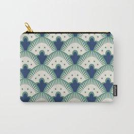 Fan Pattern Blue/Green Carry-All Pouch