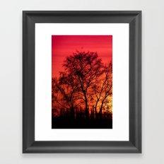 Edge of Sunset Framed Art Print