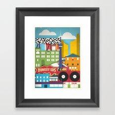 Touristique - Toronto Framed Art Print
