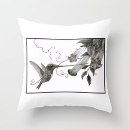 Swordbill Hummingbird Throw Pillow