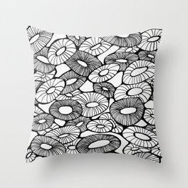 Happy Bunch Throw Pillow