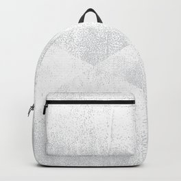 White and Gray Lino Print Texture Geometric Backpack