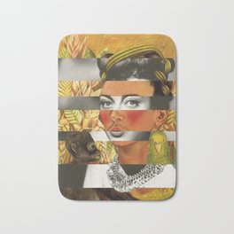 Frida Kahlo's Self Portrait with Parrot & Joan Crawford Bath Mat