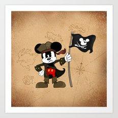 Black Ear the Pirate Art Print