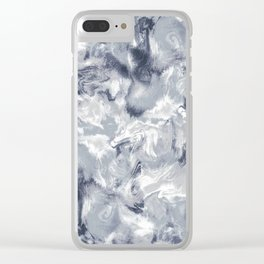 Marble Mist Cool Grey Clear iPhone Case
