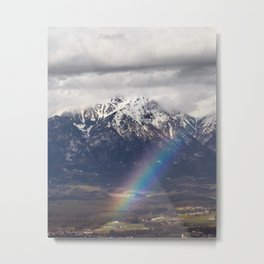 Rainbow and mountains after the storm Metal Print