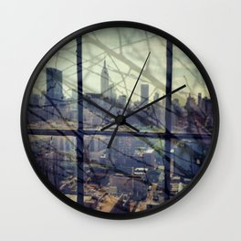 reflections in the city Wall Clock