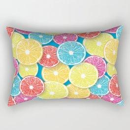 Citrus fruit slices pop art  Rectangular Pillow