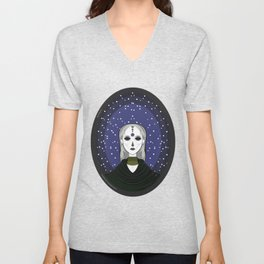 SPACE DELILAH Unisex V-Neck