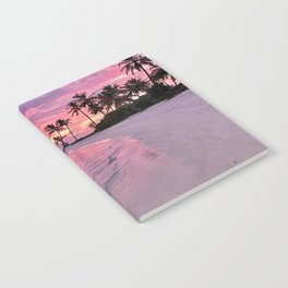 SUNSET AND PALM TREES Notebook