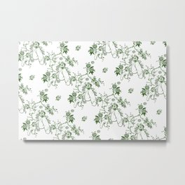 Penis Pattern GREEN Metal Print