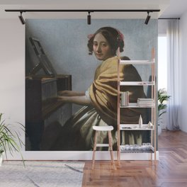 Johannes Vermeer - A Young Woman Seated at the Virginals Wall Mural