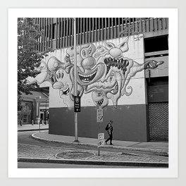"""Famous"" Street Art Art Print"