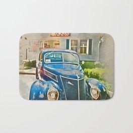 Blue Classic Car Bath Mat