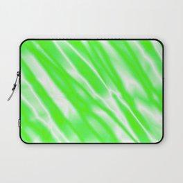 Light metal crooked mirror with green white diagonal stripes. Laptop Sleeve