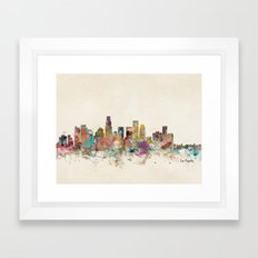 los angeles california Framed Art Print