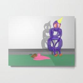 Gary Drops His Cone Metal Print