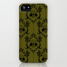 Halloween Damask Green iPhone (5, 5s) Slim Case