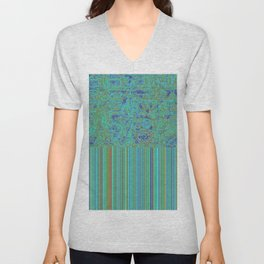Abstract in Turquoise Unisex V-Neck