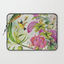 Vintage Bird Floral in Grainy Eggshell Laptop Sleeve