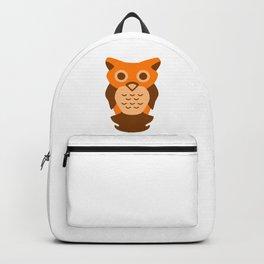 Wise Orange Owl Backpack