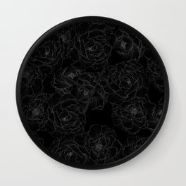 Peony Flower Pattern III Wall Clock