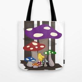 Kribug in Mushroomland Tote Bag