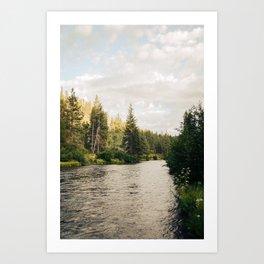 Rvier Art Print