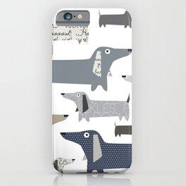 Wiener Dog Pattern iPhone Case