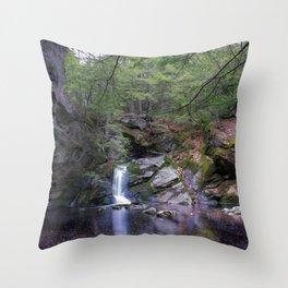 Purgatory Falls NH in May Throw Pillow