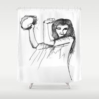 gypsy Shower Curtains featuring Gypsy by Audrey Parrill