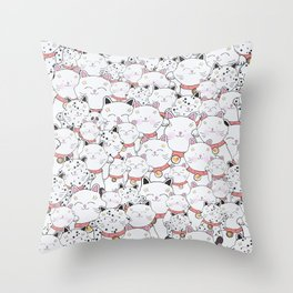 FIND THE PANDA - LUCKY CAT Throw Pillow