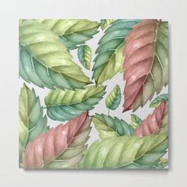 GREEN LEAVES 2 Metal Print