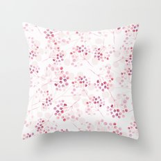 Pink pattern Throw Pillow