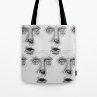 fear Tote Bags featuring fear by Dimitris Evagelou